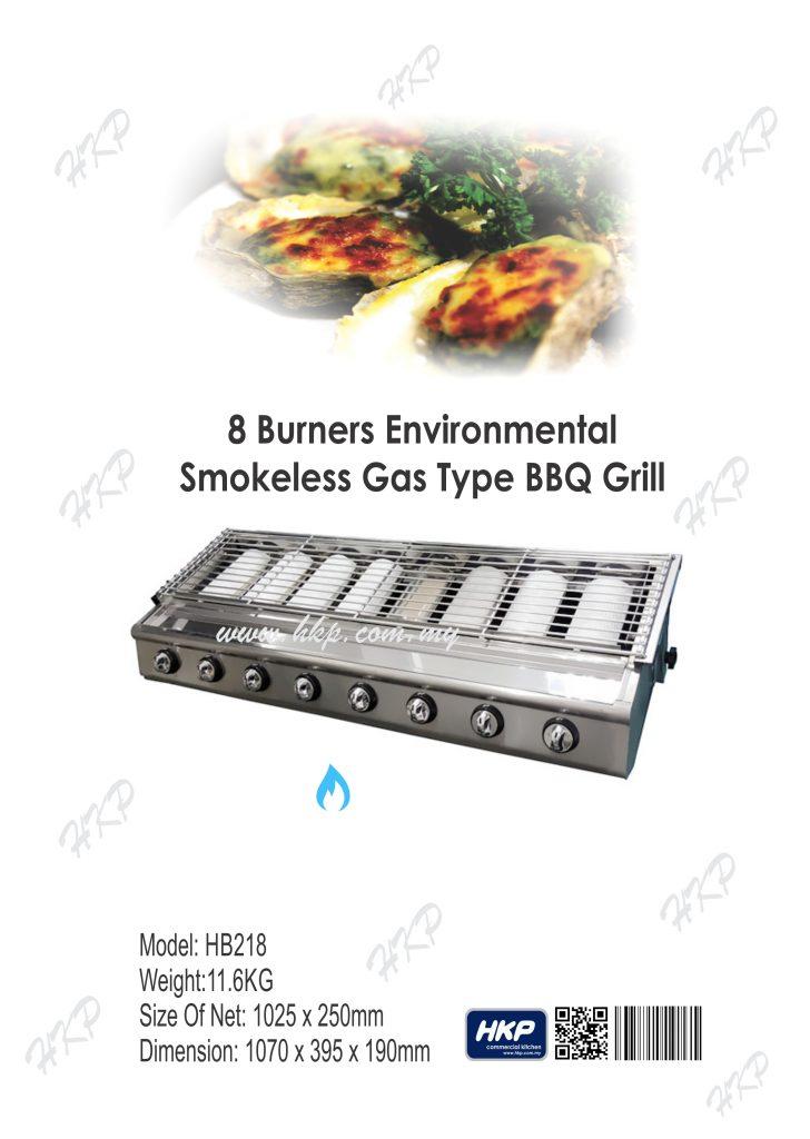 BBQ Grill (Gas)-8 Burner(HB218)