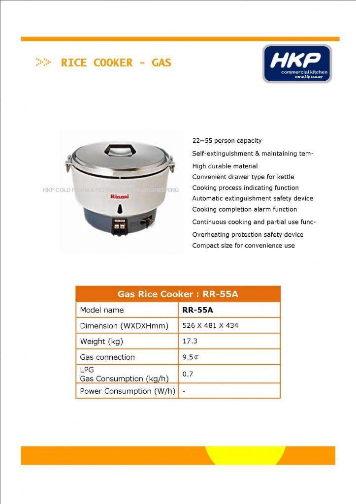 Rice Cooker (Gas)-Rinnai RR-55A (1)