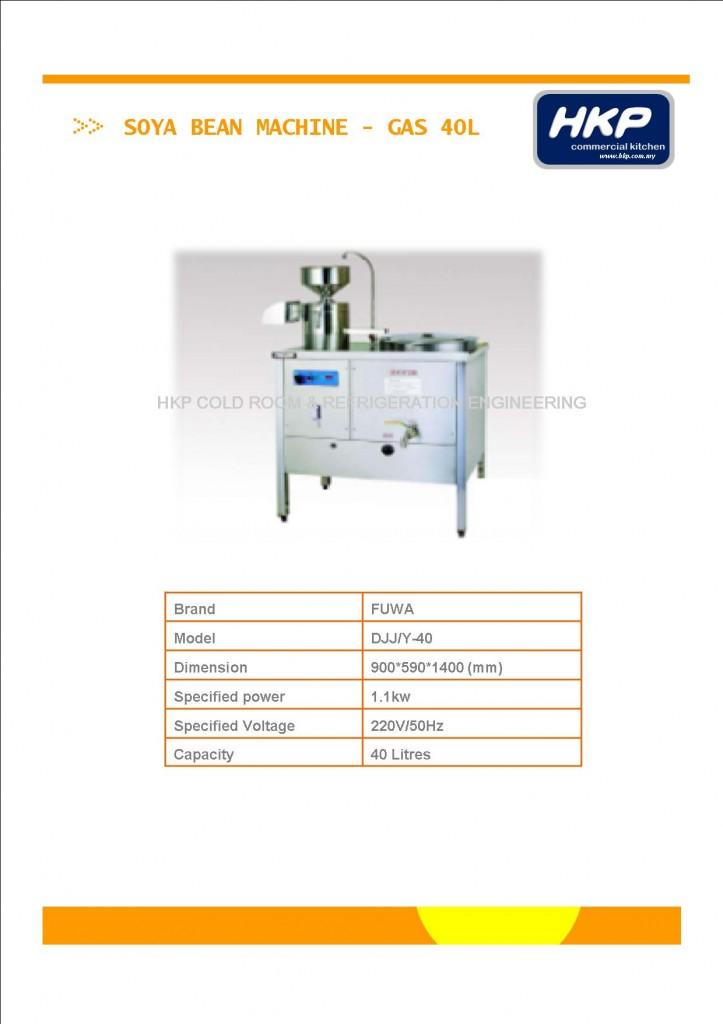 Soya Bean Machine-Gas 40L