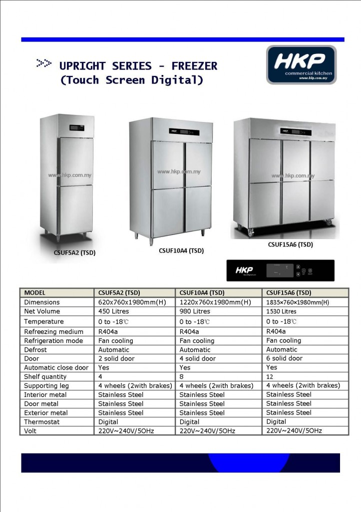 Upright Freezer-Touch Screen (HKP)