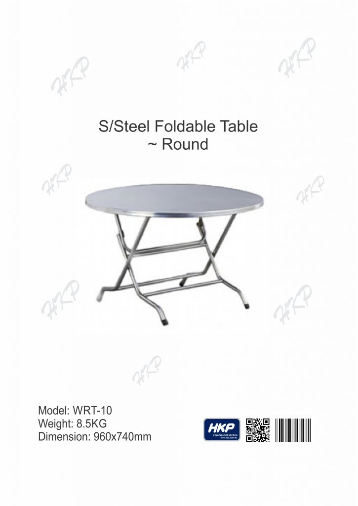 Foldable Round Table (WRT-10)