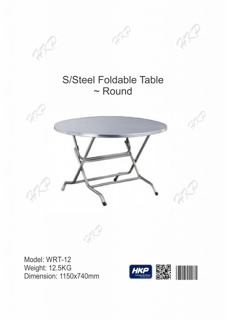 Foldable Round Table (WRT-12)