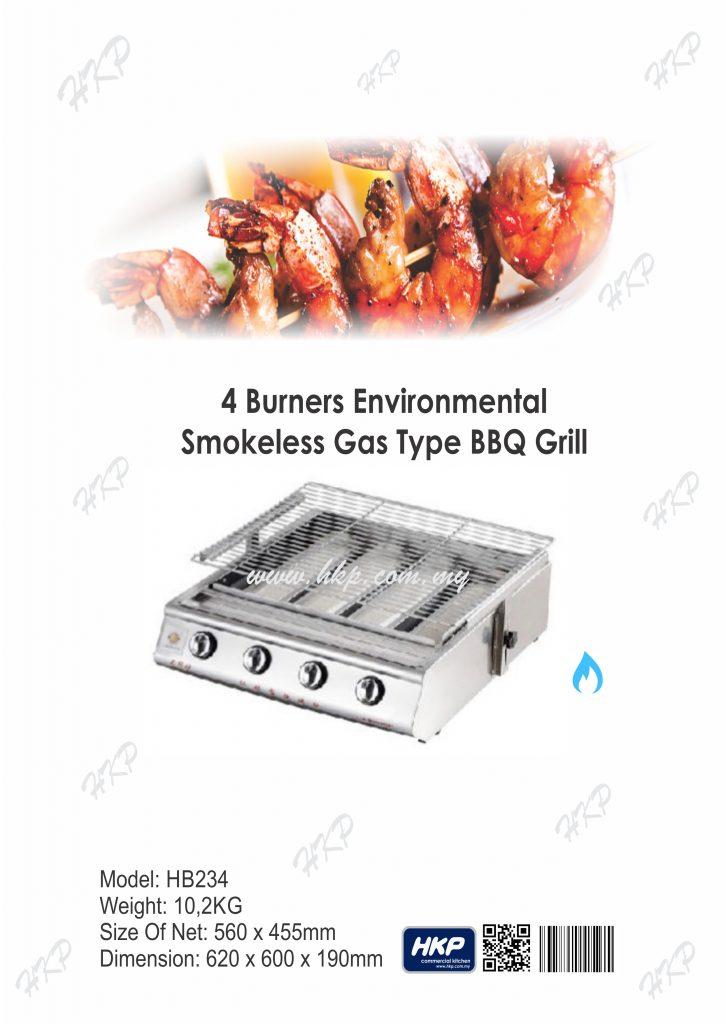 BBQ Grill (Gas)-4 Burner(HB234)