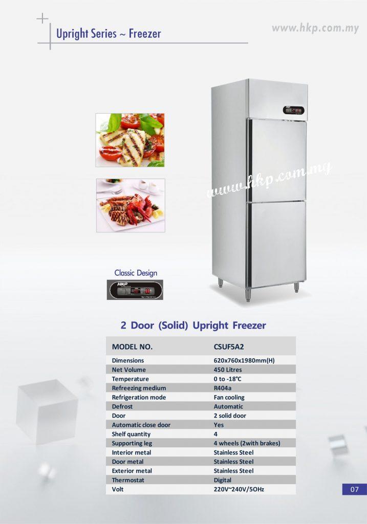 Upright Freezer (Solid) - 2 Door