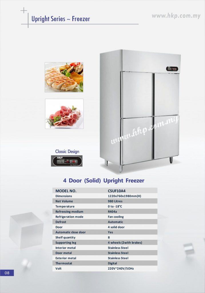 Upright Freezer (Solid) - 4 Door