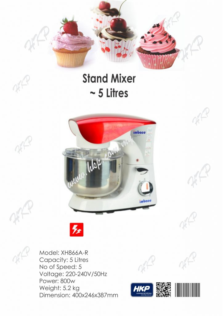 mixer-5-litres-red