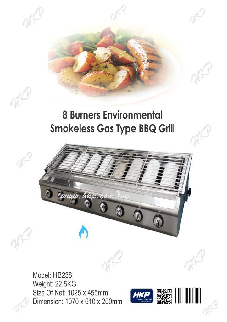 BBQ Grill (Gas)-8 Burner(HB238)