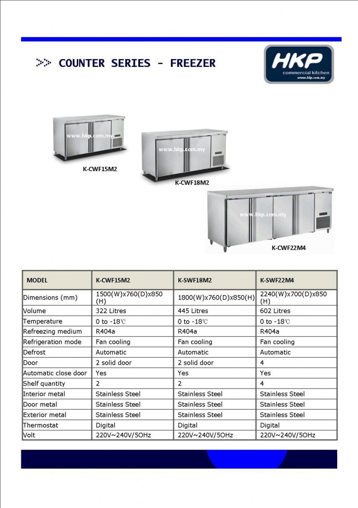 Counter Top Freezer (HKP)