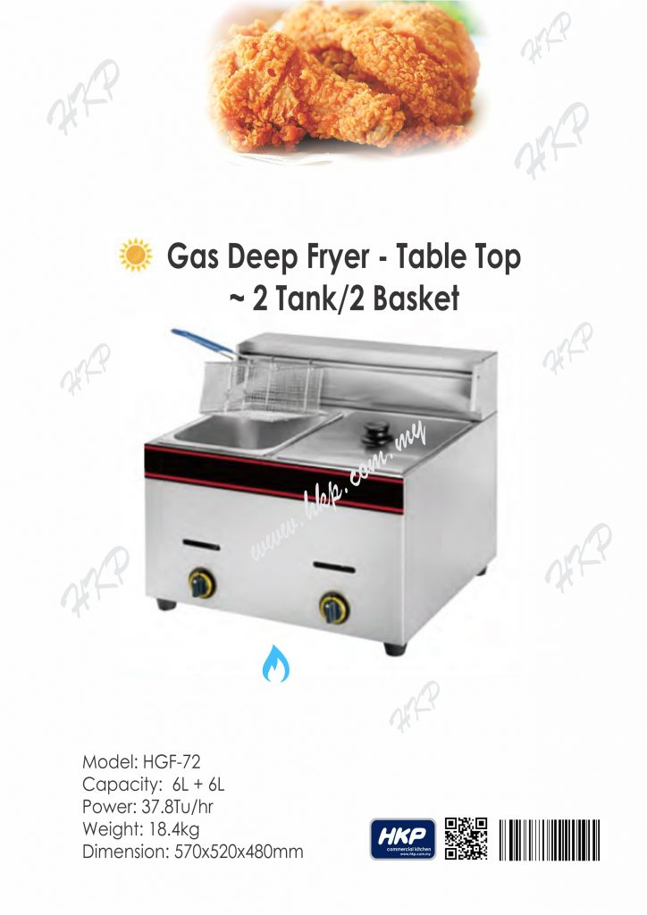 Deep Fryer-Gas (HGF-72)