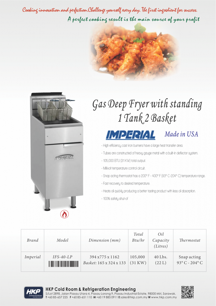 Deep Fryer-Gas (Imperial)