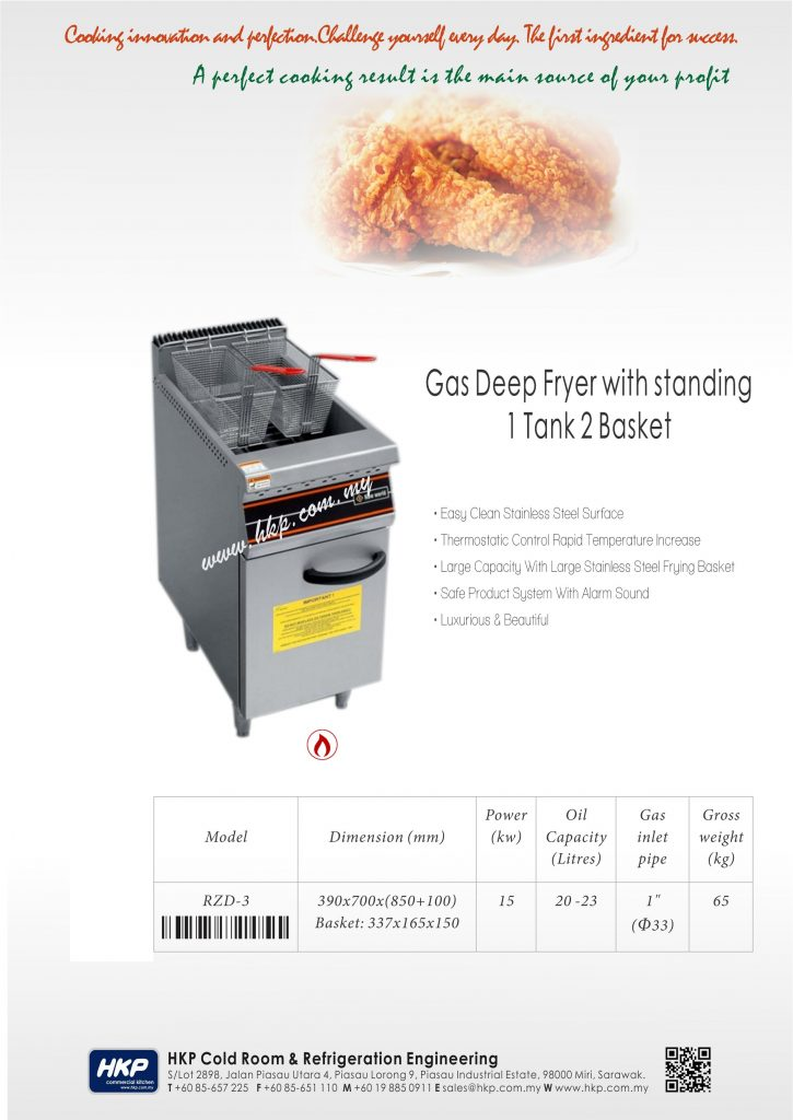 Deep Fryer-Gas (RZD-3)