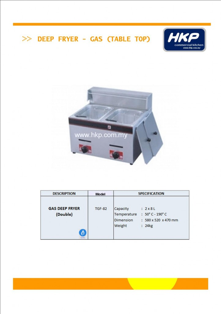 Deep Fryer (Gas)-Table Top