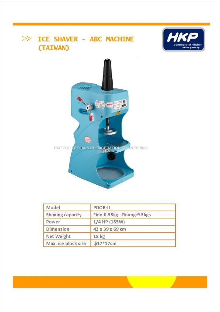 Ice Shaver (ABC)-Taiwan PDOB II