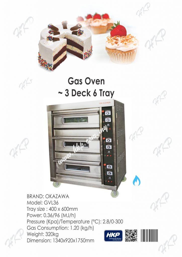 Oven-Gas (Okzawa-3 Deck 6 Tray)