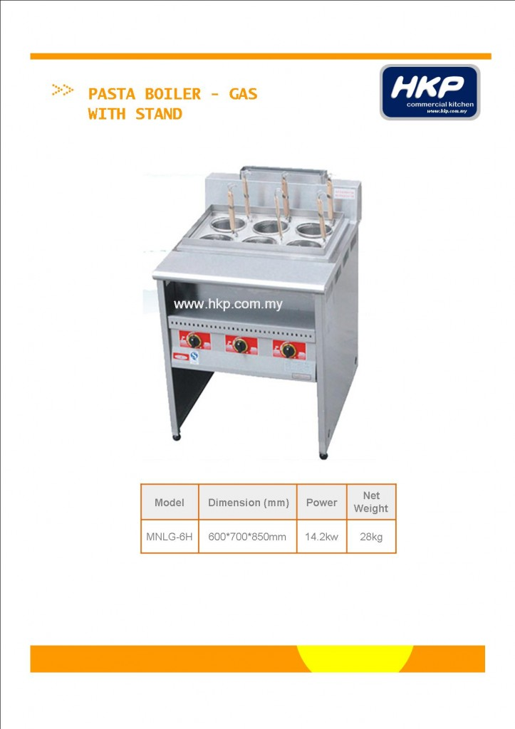 Pasta Boiler with Stand-Gas