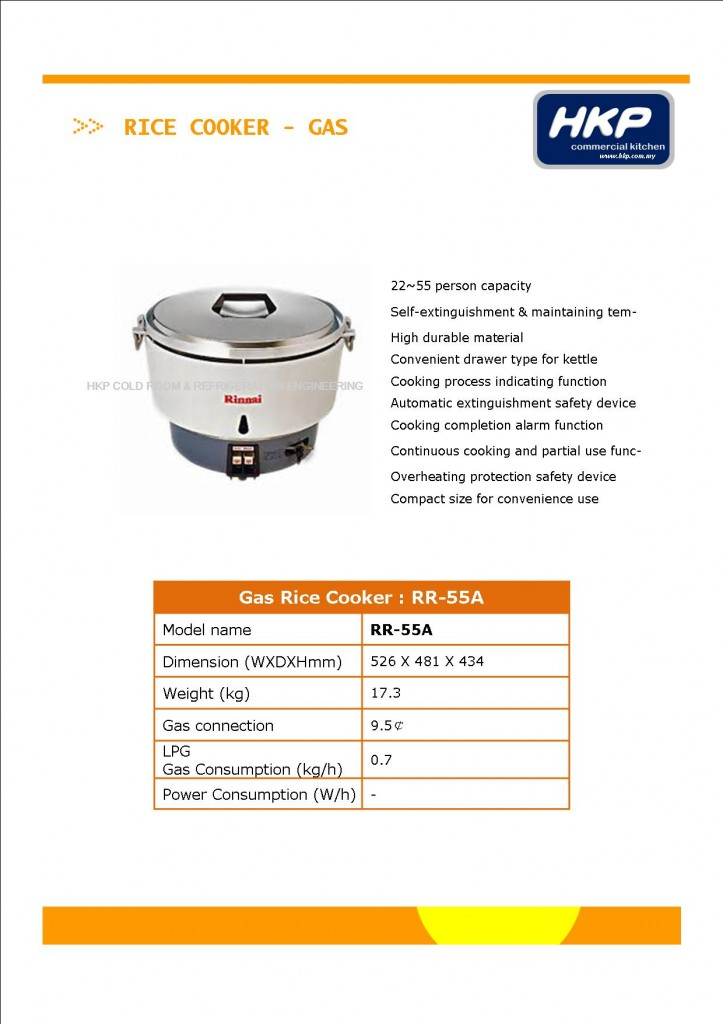 Rice Cooker (Gas)-Rinnai RR-55A (1)