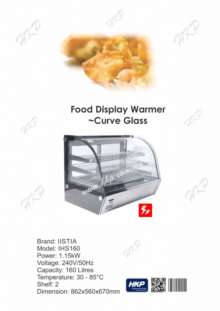 Food Display Warmer-Curve Glass (IHS160)