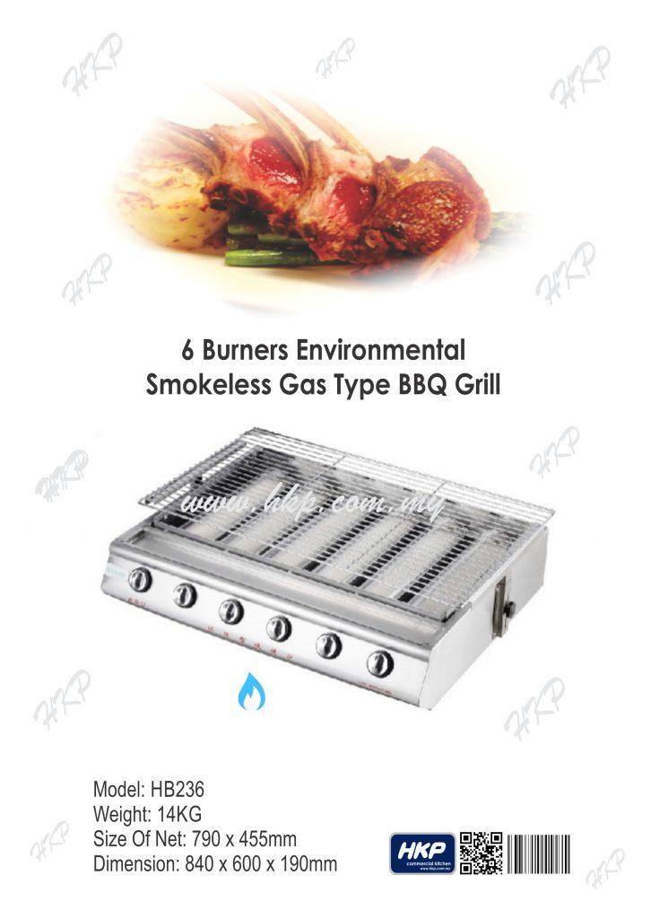 BBQ Grill (Gas)-6 Burner(HB236)