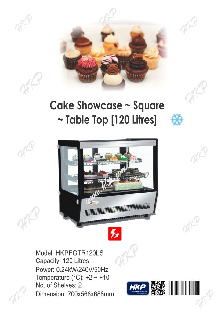 Cake Showcase-Table Top (120L)