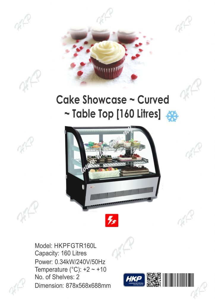 Cake Showcase-Table Top (160L)