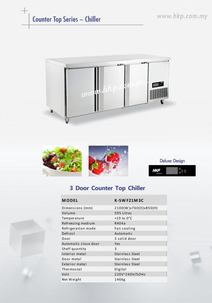 Counter Top Chiller - 3 Door