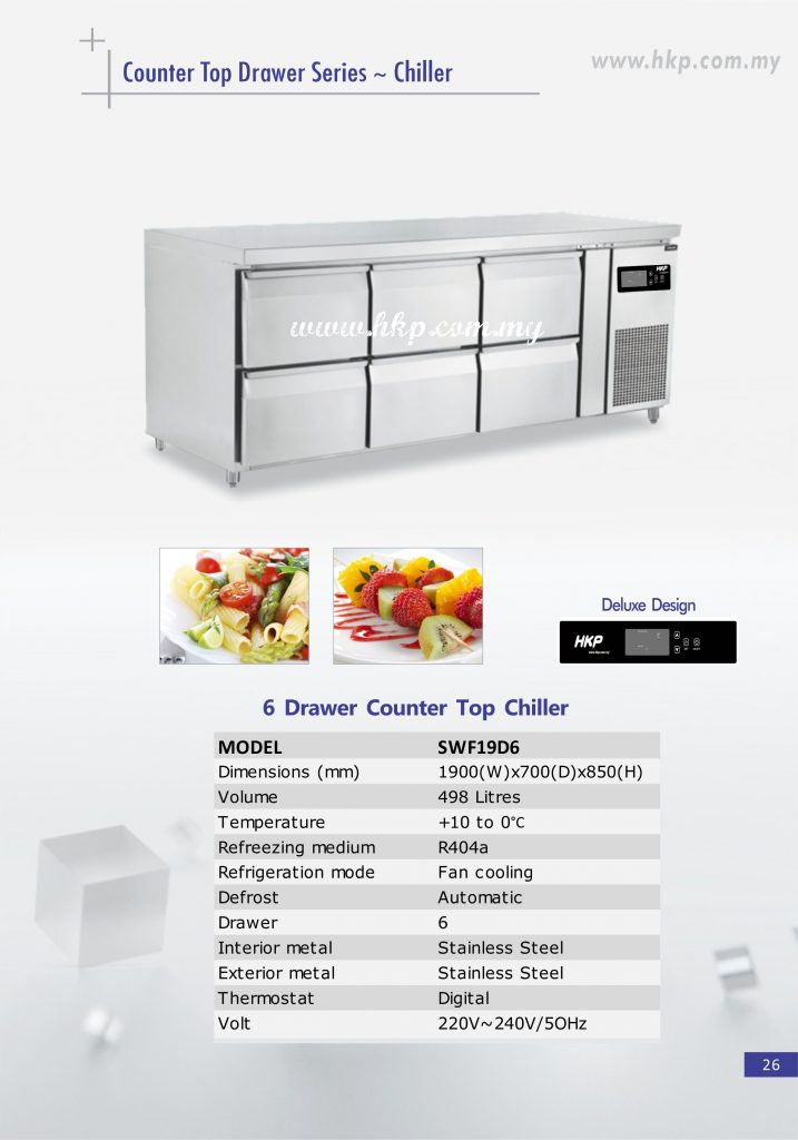 Counter Top Chiller - 6 Drawer