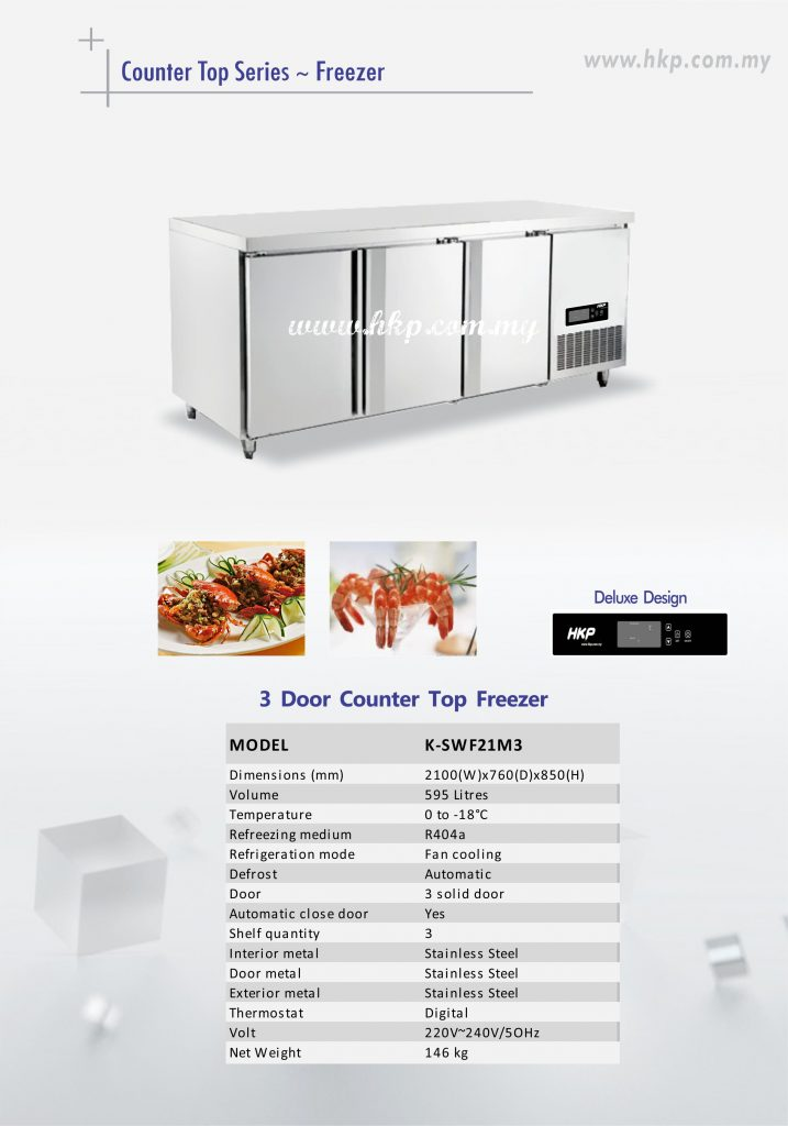 Counter Top Freezer - 3 Door