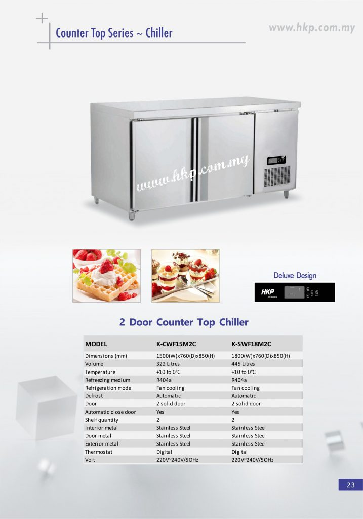 Counter top Chiller - 2 Door
