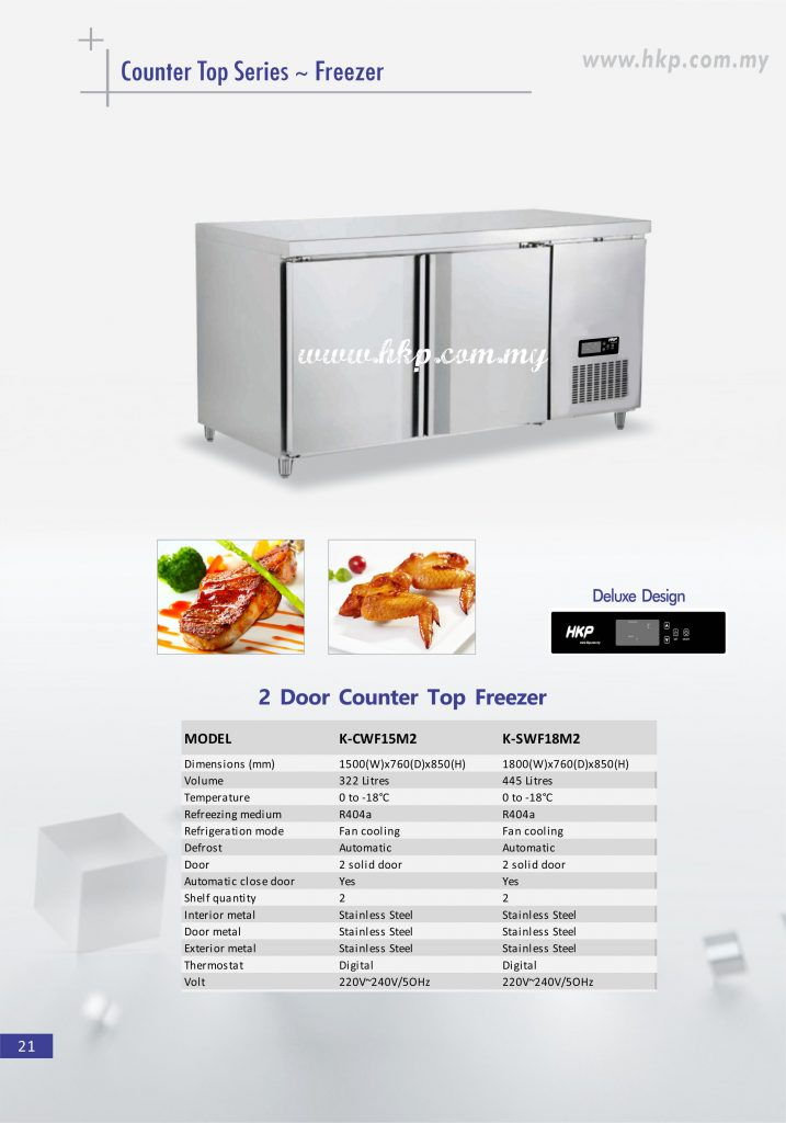 Counter top Freezer - 2 Door