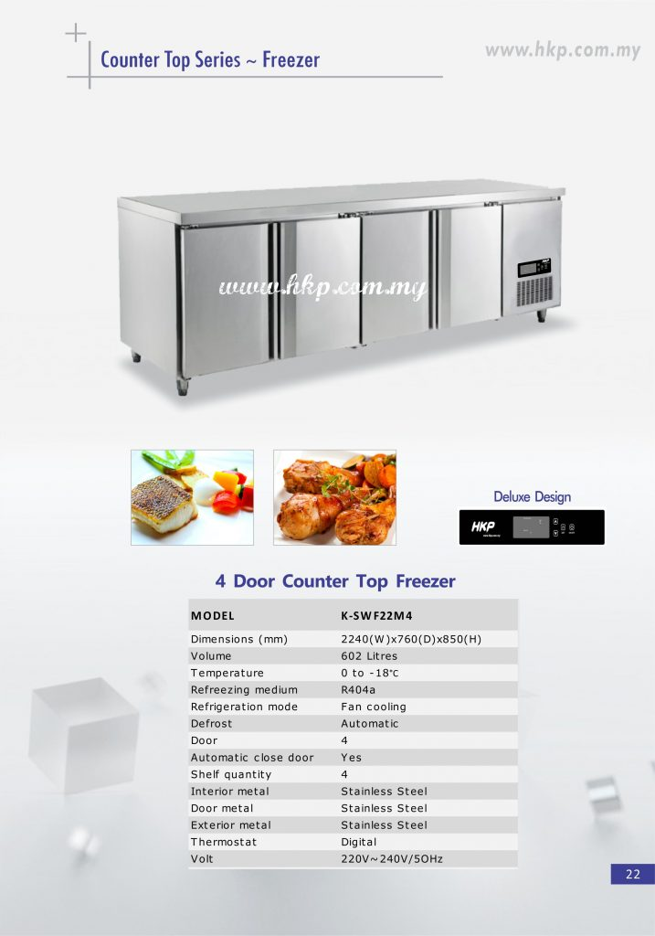 Counter top Freezer - 4 Door