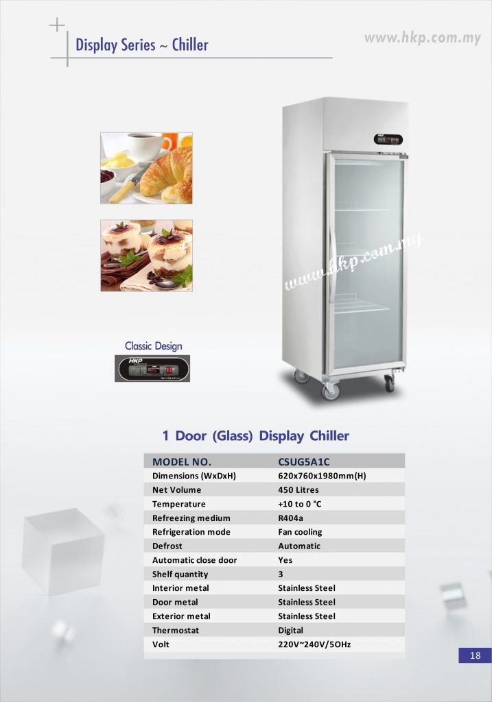 Display Chiller (Glass) - 1 Door