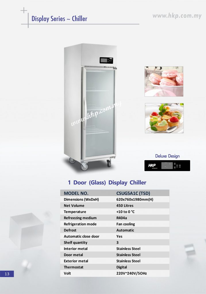 Display Chiller (Glass) - 1 Door TSD