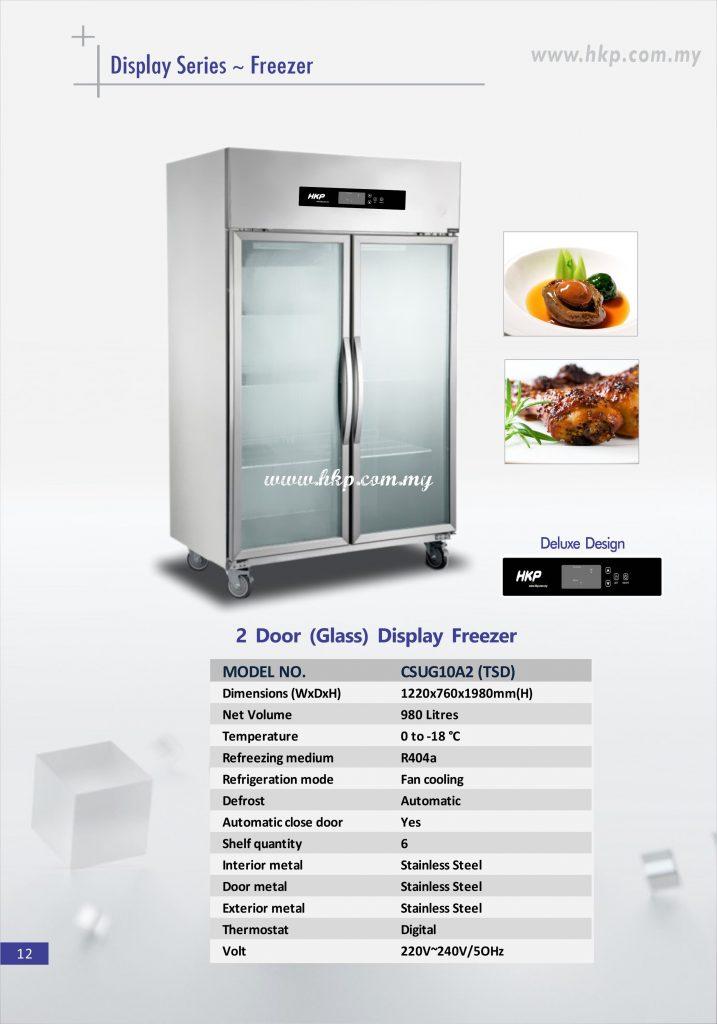 Display Freezer (Glass) - 2 Door TSD