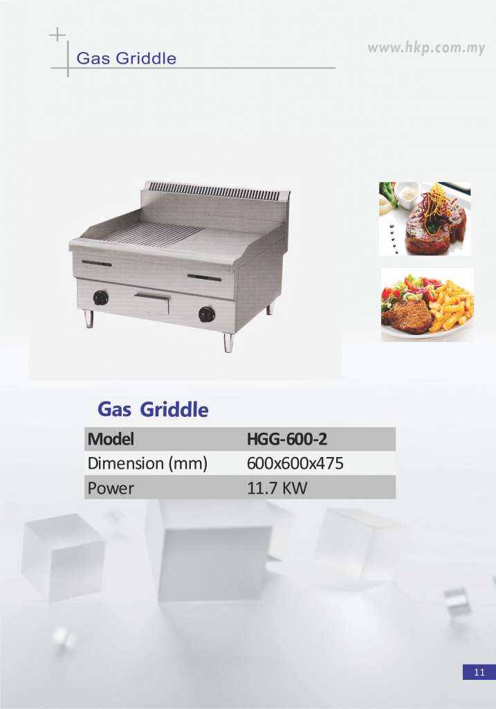Gas Griddle-Half Ribbed(HGG-600-2)