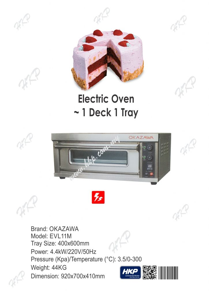 Oven-Electric (Okazawa-1 Deck 1 Tray)