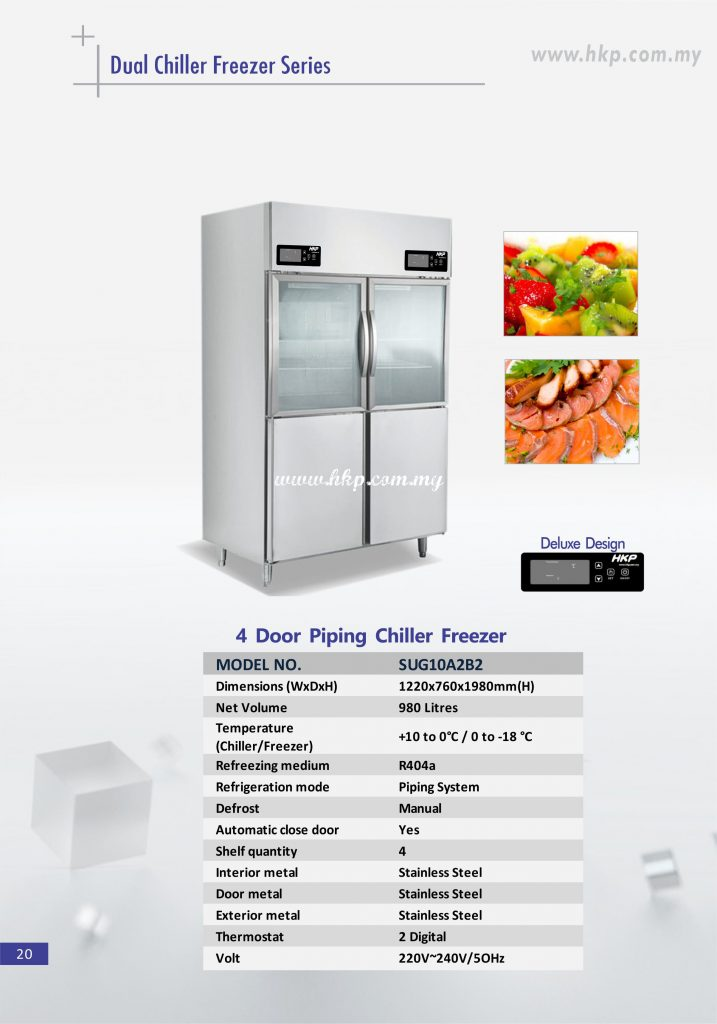 Piping Chiller Freezer - 4 Door