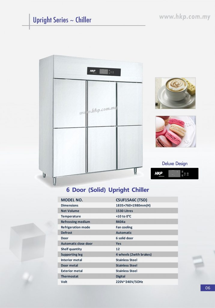 Upright Chiller (Solid) - 6 Door TSD