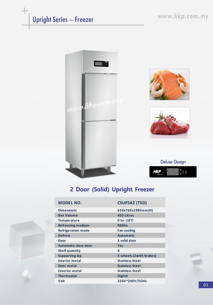 Upright Freezer (Solid) - 2 Door TSD