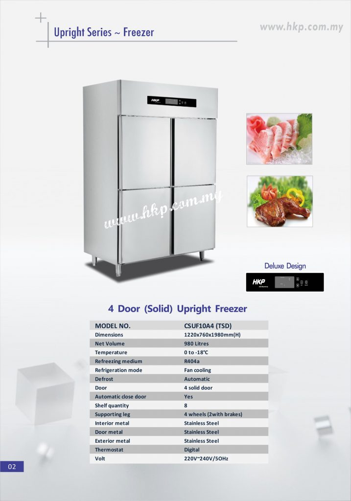 Upright Freezer (Solid) - 4 Door TSD