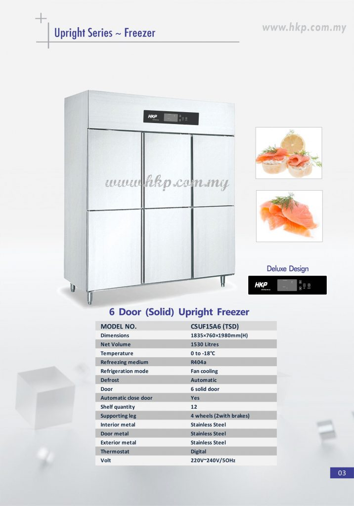 Upright Freezer (Solid) - 6 Door TSD