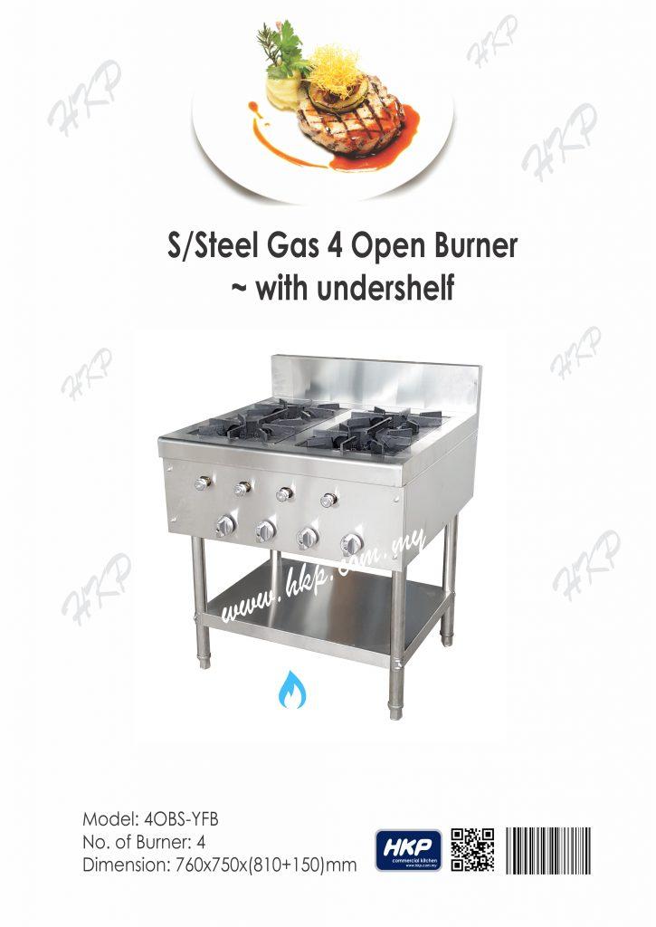 Open Burner - 4 nos