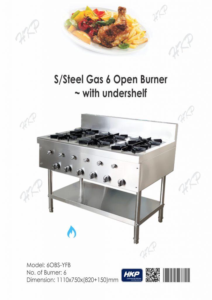 Open Burner - 6 nos